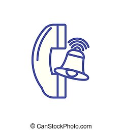 telephone receiver on white background vector illustration ...