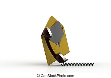 Telephone receiver with e mail