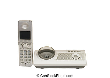 telephone set isolated on a white background