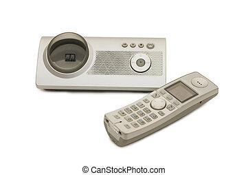 telephone set isolated on a white background
