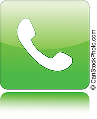 Telephone sign on green