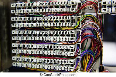 Telephone switchboard.