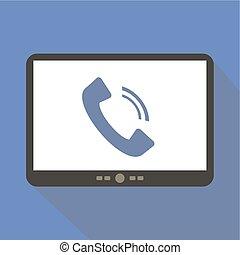 Telephone Tablet Icon