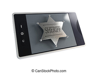 telephone the sheriff's badge
