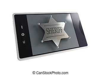 telephone the sheriff's badge