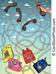 Telephone Wire Maze Game. Answer: p