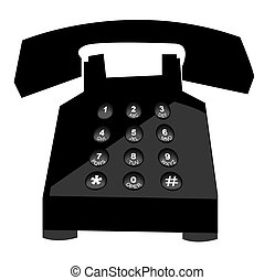 telephone with push button numbers