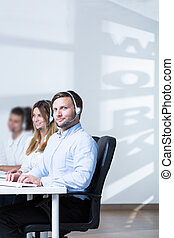 Telephonists in call center