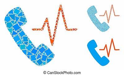 Telephony Composition Icon of Irregular Parts - Telephony ...