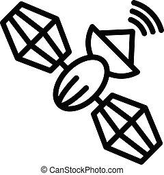 Telephony satellite icon, outline style - Telephony ...