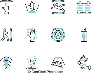 Teleporting icon collection set. Vector illustration with transportation.