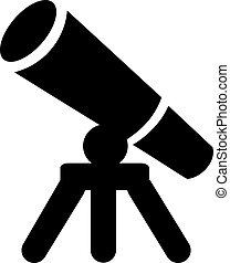 telescópio, ícone