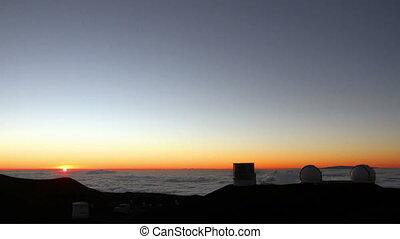 telescópios, e, estrelas, lapso tempo