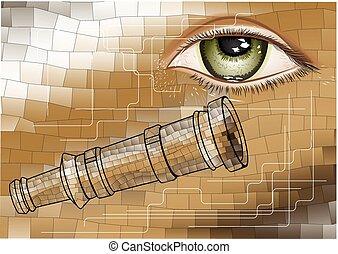 telescope and eye
