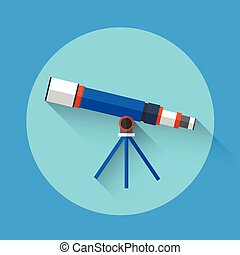 Telescope Astronomy Science Icon