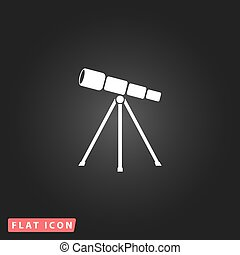 Telescope flat icon