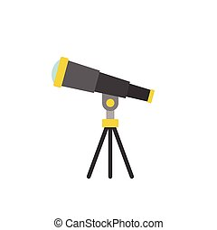 telescope icon, flat design vector