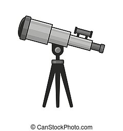 Telescope Icon on White Background. Vector