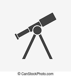 Telescope icon. Vector illustration