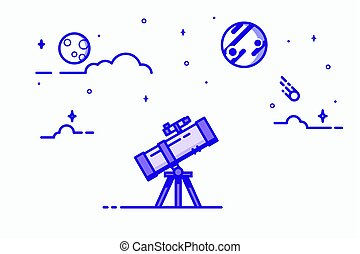 Telescope line illustration