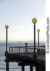 Telescope on pier