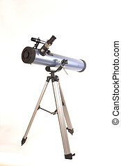 telescope over white