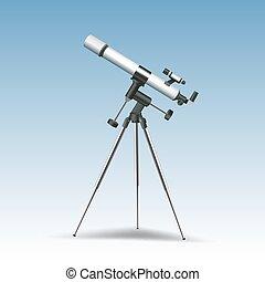 Telescope Realistic Illustration