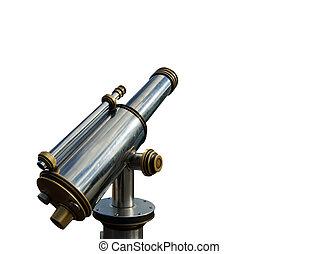 telescope), telescopio, espectador, aislamiento, (tourist, ...