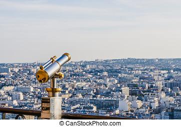 Telescope tourist Paris