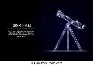 Telescope vector geometric polygonal art style design