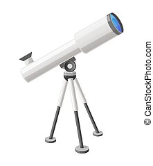 Telescope View from Right Isolated Illustration - Close-up...