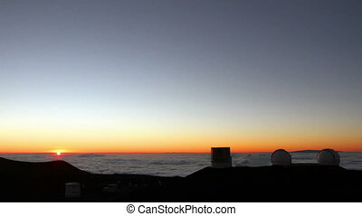 Telescopes and Stars Time Lapse - Time lapse of the Mauna...