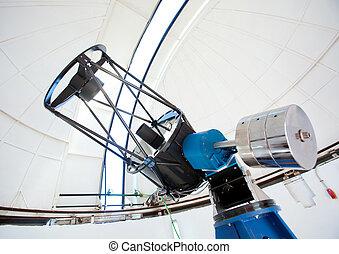 telescopio del observatorio, astronomic, cúpula