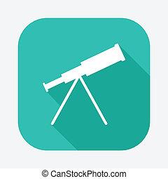 telescopio, icono