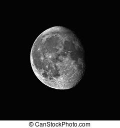 teleskop, abnehmen, 0.2, mond, zählewerke, gibbous, ...