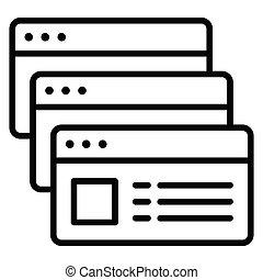 teletrabajar, multi, o, icono, tasking, vector, ilustración, trabajo, remoto