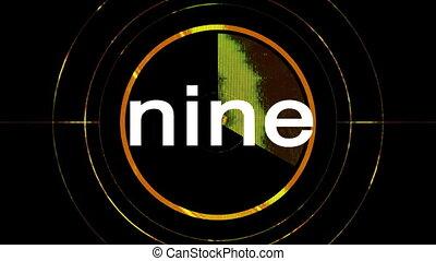 televízió, ügy, film, visszaszámlálás, számok, vagy