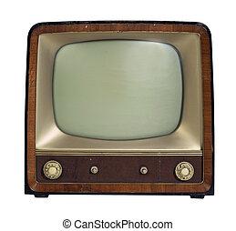 televízió díszlet, öreg, nosztalgiázó
