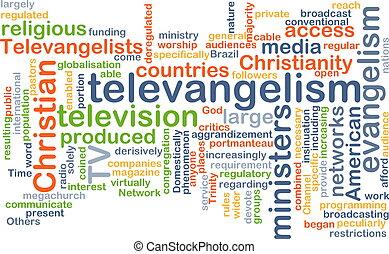 televangelism, wordcloud, fogalom, ábra