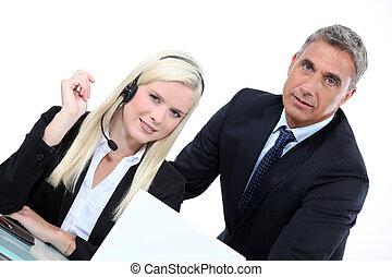 televendedor, director, ventas