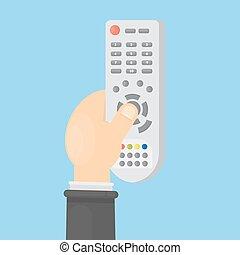 televisão remote, control.