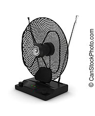 televisión, ajustable, portátil, antena, amplificador, radio