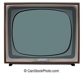 televisión, bw