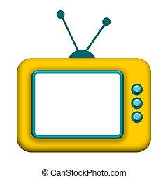 televisión, caja