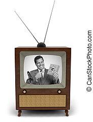 televisión, comercial, 50's