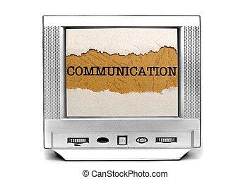 televisión, comunicación