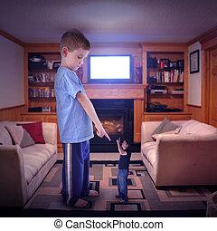 televisión, conflicto de la familia