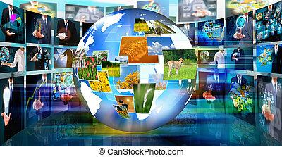 televisión, empresa / negocio, conc, producción, .technology...