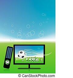 televisión, fútbol, canal, igual, deportes