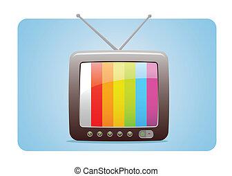 televisión, icono